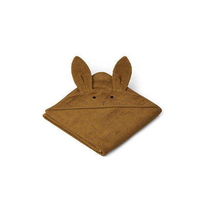 Liewood Augusta Hooded Towel - Rabbit - Olive Green-Towels & Robes-Olive Green-One Size- Natural Baby Shower