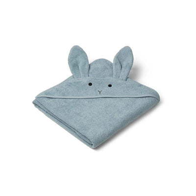 Liewood Augusta Hooded Towel - Rabbit - Sea Blue-Towels & Robes-Sea Blue-One Size- Natural Baby Shower