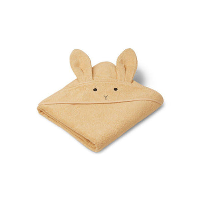 Liewood Augusta Hooded Towel - Rabbit - Smoothie Yellow-Towels & Robes-Smoothie Yellow-One Size- Natural Baby Shower
