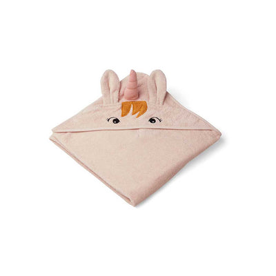Liewood Augusta Hooded Towel - Unicorn - Sorbet Rose-Towels & Robes-Unicorn - Sorbet Rose-One Size- Natural Baby Shower