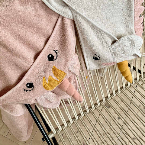 Liewood Augusta Hooded Towel - Unicorn - Sandy-Towels & Robes-Unicorn - Sandy-One Size- Natural Baby Shower