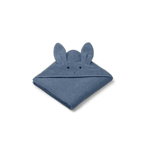Liewood Augusta Rabbit Hooded Towel - Blue Wave-Towels & Robes-Blue Wave-One Size- Natural Baby Shower
