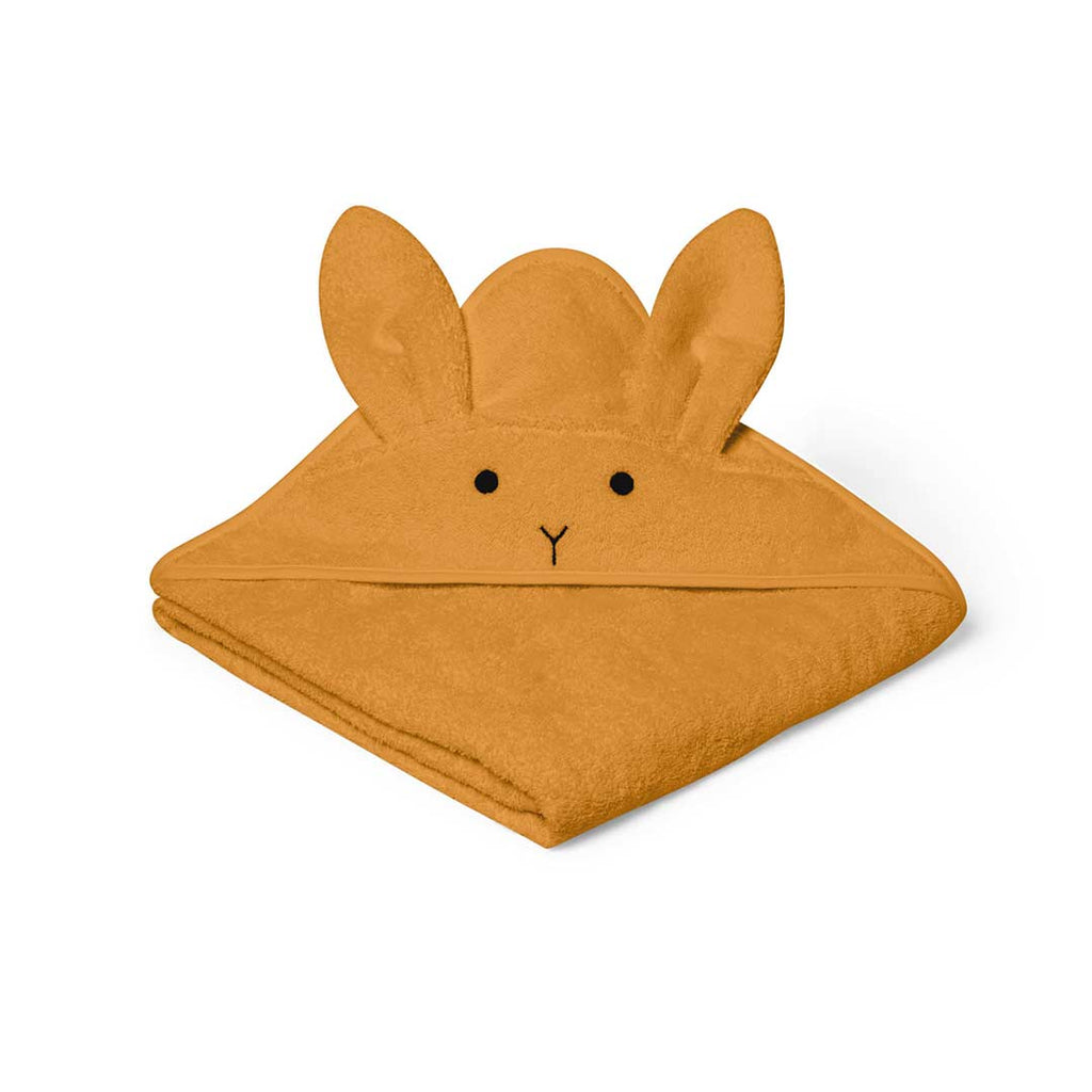 Liewood Augusta Rabbit Hooded Towel - Mustard 1