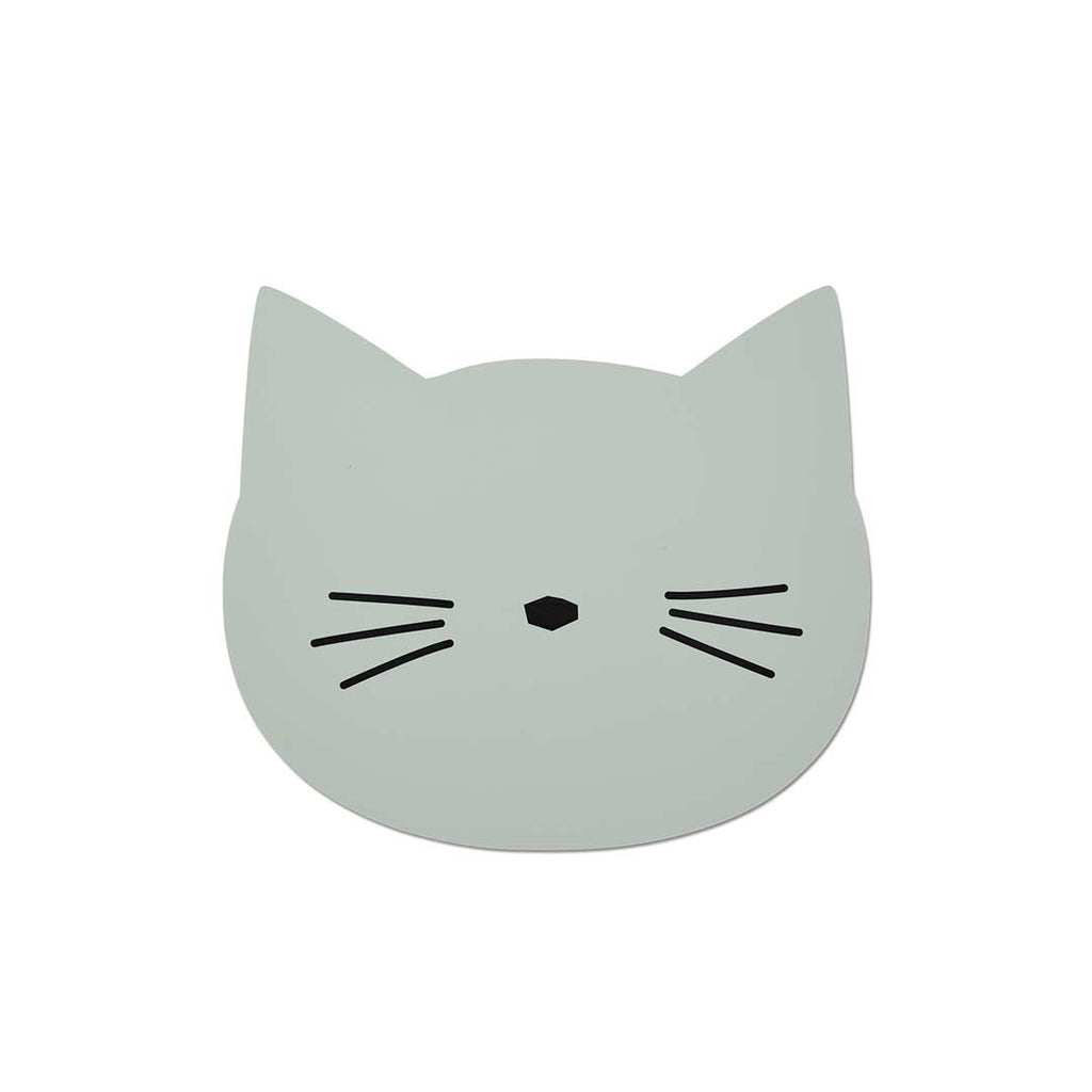 Liewood Aura Cat Placemat - Dusty Mint