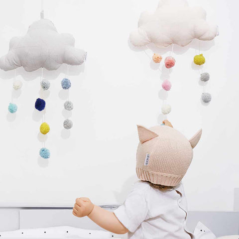 Liewood Big Clara Cloud Mobile - Dumbo Grey-Baby Mobiles- Natural Baby Shower
