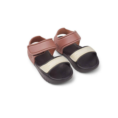 Liewood Blumer Sandals - Dark Rose/Black Mix-Sandals- Natural Baby Shower