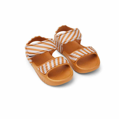 Liewood Blumer Sandals - Mustard/Creme de la Creme-Sandals- Natural Baby Shower
