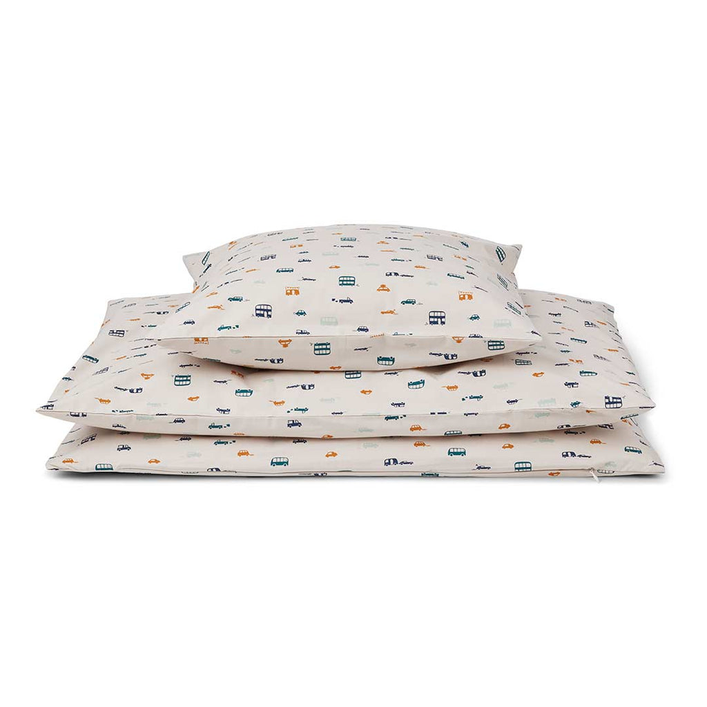 Liewood Carmen Baby Bedding - Cars-Bedding Sets- Natural Baby Shower