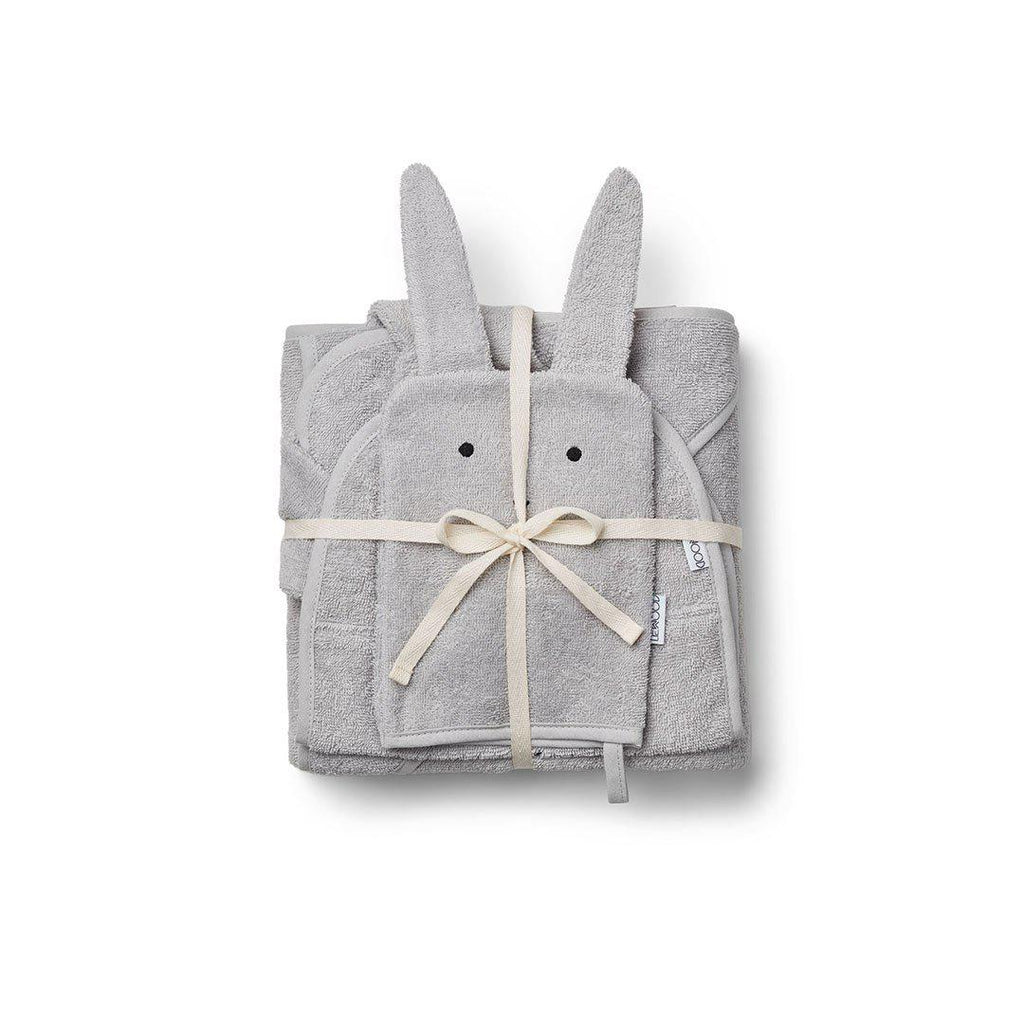 Liewood Cleo Rabbit Kids Terry Package - Dumbo Grey-Gift Sets- Natural Baby Shower