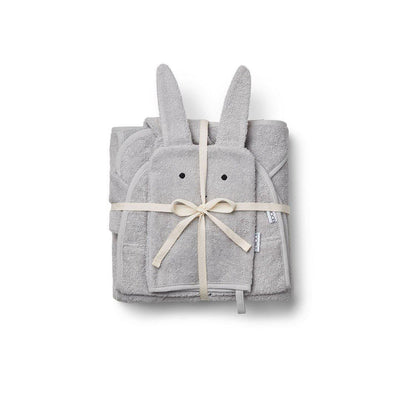 Liewood Cleo Rabbit Kids Terry Package - Dumbo Grey-Clothing Sets-One Size- Natural Baby Shower