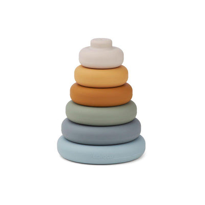Liewood Dag Stacking Tower - 2020 - Blue Multi Mix-Sorting & Stacking Toys- Natural Baby Shower