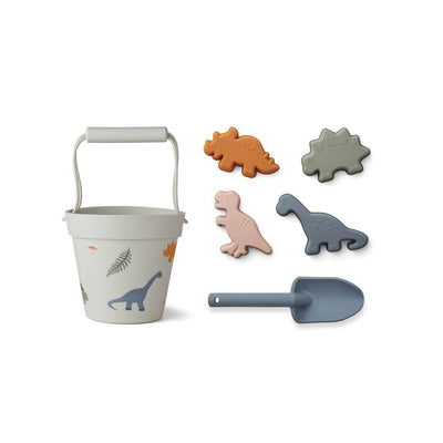 Liewood Dante Beach Set - Dino Mix-Play Sets- Natural Baby Shower