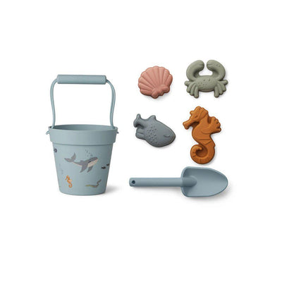Liewood Dante Beach Set - Sea Creature Mix-Play Sets- Natural Baby Shower