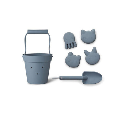 Liewood Dante Rabbit Beach Set - Blue Wave-Play Sets- Natural Baby Shower