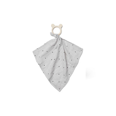 Liewood Dines Teether Cuddle Cloth - Classic Dot Dumbo Grey-Comforters- Natural Baby Shower