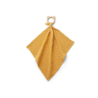 Liewood Dines Teether Cuddle Cloth - Confetti Yellow Mellow-Comforters- Natural Baby Shower