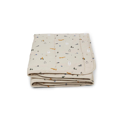 Liewood Ebbe Quilted Blanket - Arctic Mix-Blankets- Natural Baby Shower