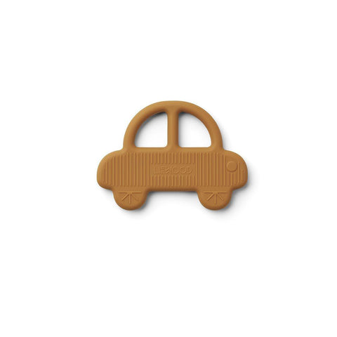 Liewood Gemma Silicone Teether - Car - Mustard-Teethers- Natural Baby Shower