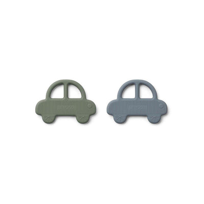 Liewood Geo Car Teethers - 2 Pack - 2020 - Faune Green-Teethers- Natural Baby Shower