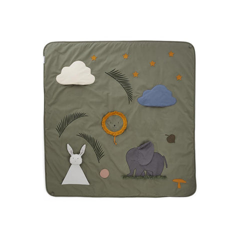 Liewood Glenn Activity Blanket - Faune Green-Play Mats- Natural Baby Shower