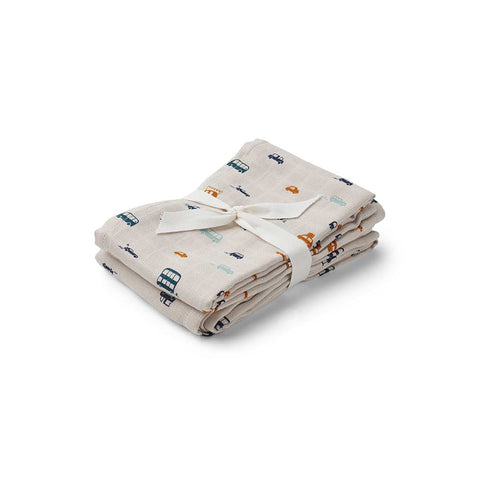 Liewood Hannah Muslin Cloth - Cars