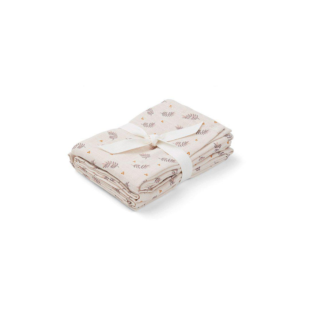 Liewood Hannah Muslin Cloth - Fern/Rose-Muslin Squares- Natural Baby Shower