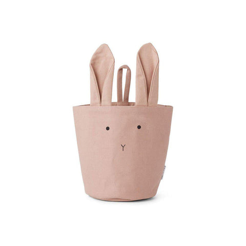 Liewood Ib Rabbit Fabric Basket - Rose