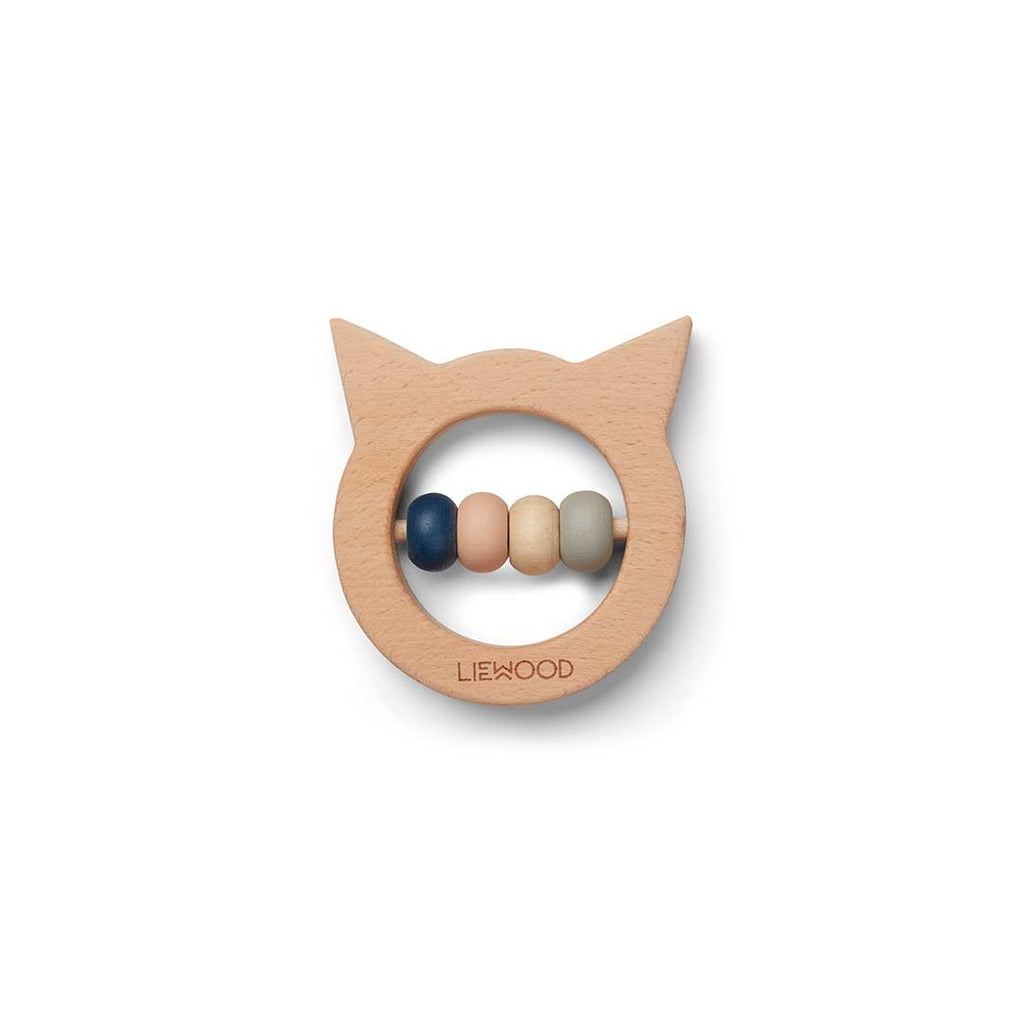 Liewood Ivalu Wooden Teether - Cat-Teethers- Natural Baby Shower