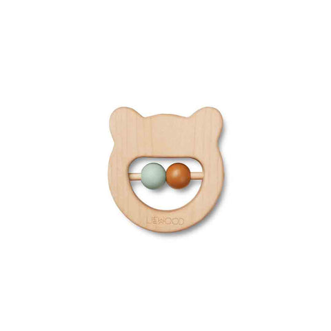 Liewood Ivalu Wooden Teether - Mr Bear-Teethers- Natural Baby Shower
