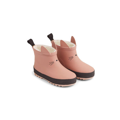 Liewood Jesse Thermo Rainboots - Dark Rose/Black Mix-Wellies- Natural Baby Shower