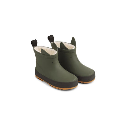 Liewood Jesse Thermo Rainboots - Hunter Green/Black Mix-Wellies- Natural Baby Shower