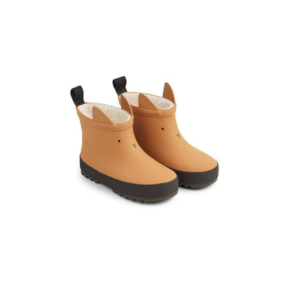 Liewood Jesse Thermo Rainboots - Mustard/Black Mix-Wellies- Natural Baby Shower