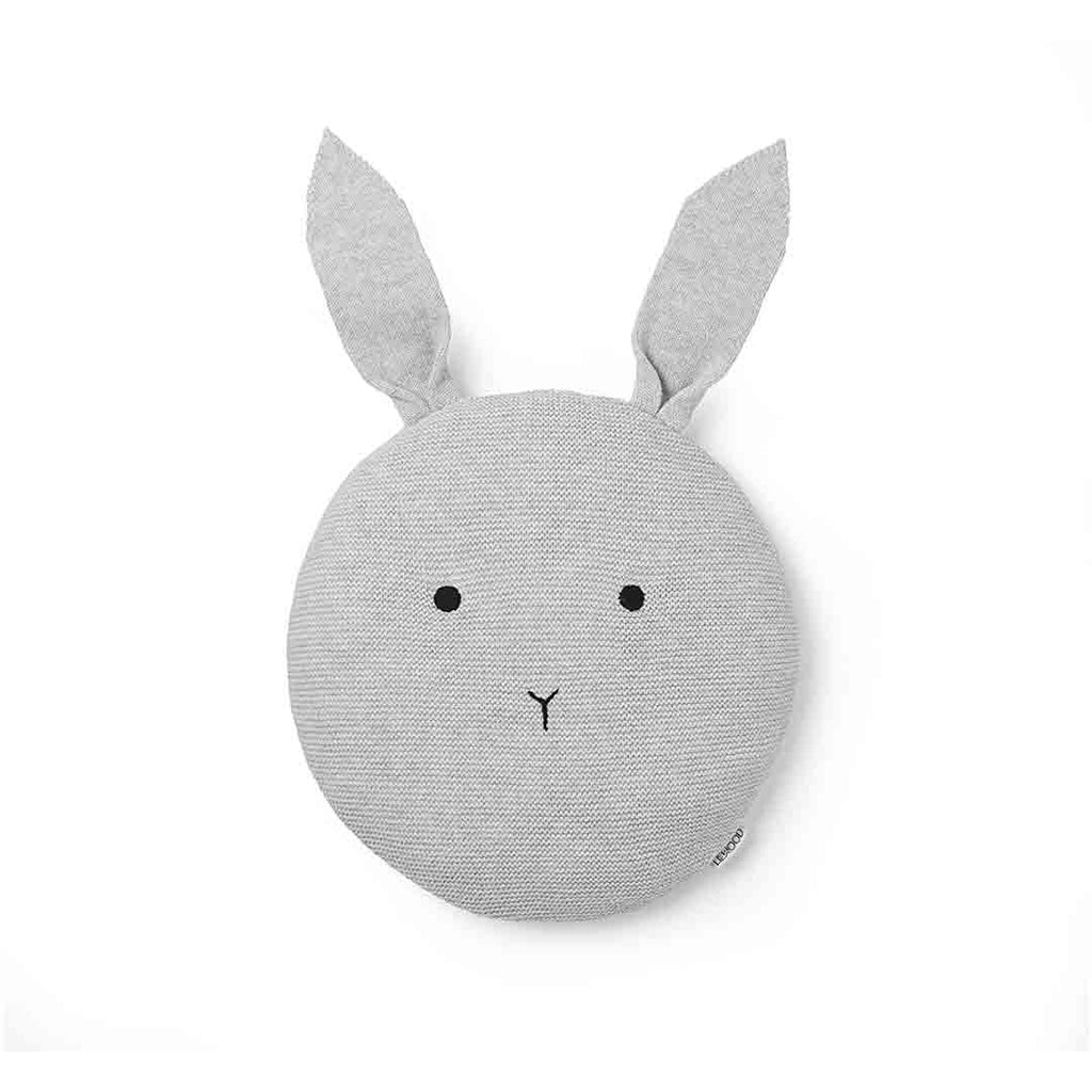 Liewood Kaj Rabbit Knit Pillow - Dumbo Grey