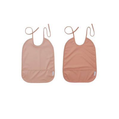 Liewood Lai Bib - 2 Pack - 2020 - Rose Mix-Bibs- Natural Baby Shower