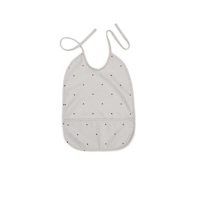 Liewood Lai Bib - Classic Dot Dumbo Grey-Bibs- Natural Baby Shower