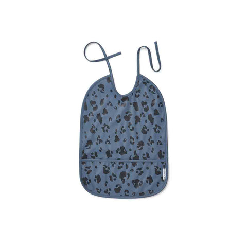 Liewood Lai Bib - Leo - Blue Wave-Bibs- Natural Baby Shower