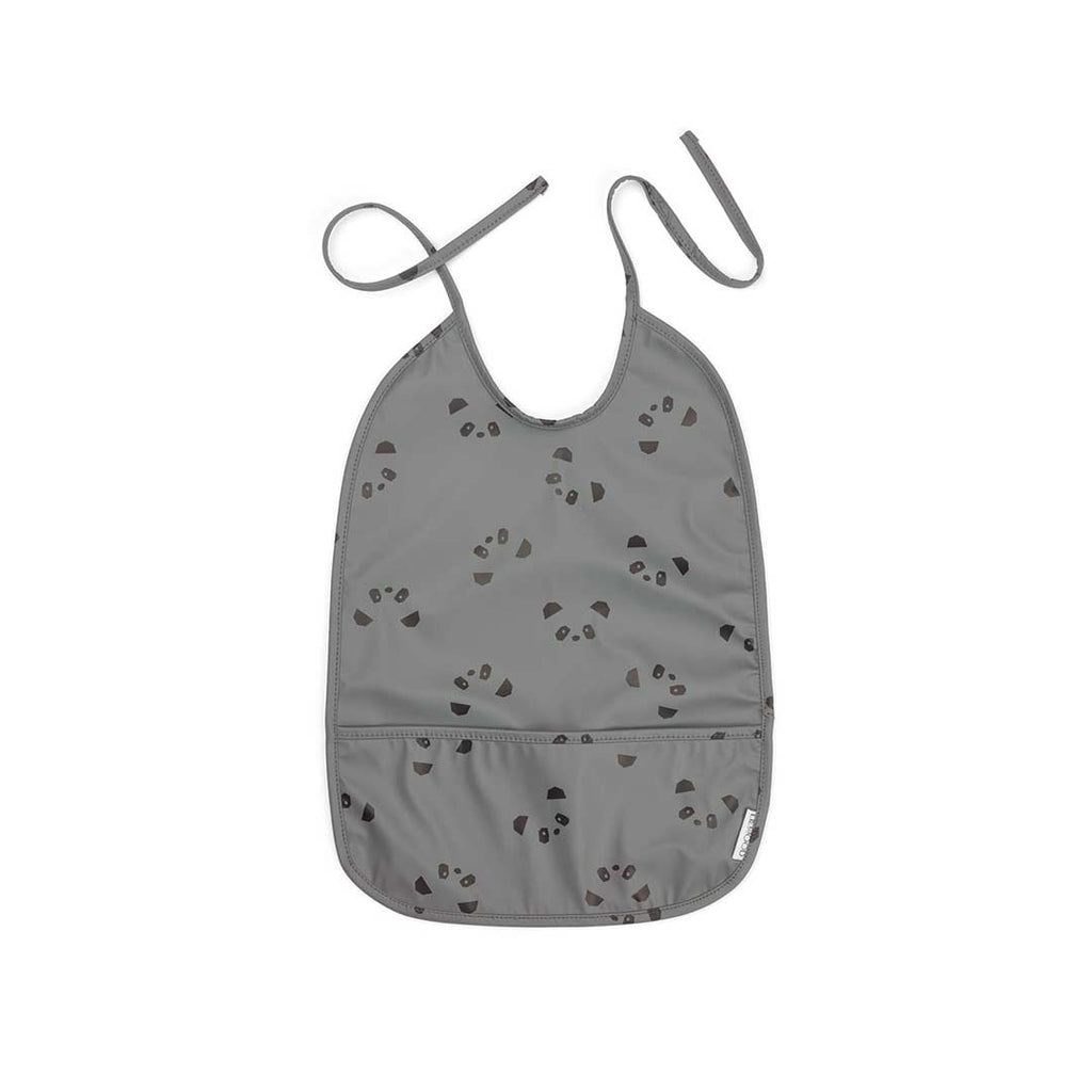 Liewood Lai Panda Bib - Stone Grey-Bibs- Natural Baby Shower