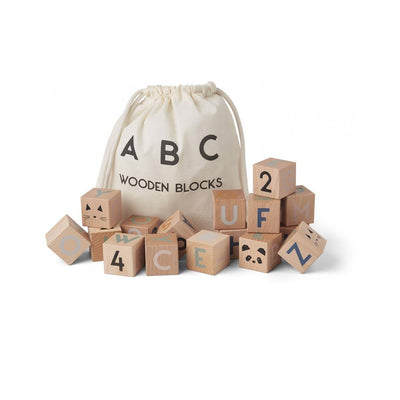 Liewood Lars Wooden Blocks-Sorting & Stacking Toys- Natural Baby Shower