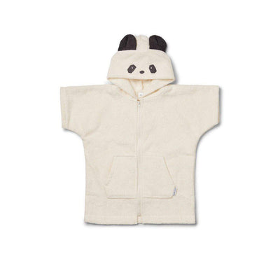 Liewood Lela Cape - Panda - Creme de la Creme-Towels & Robes- Natural Baby Shower