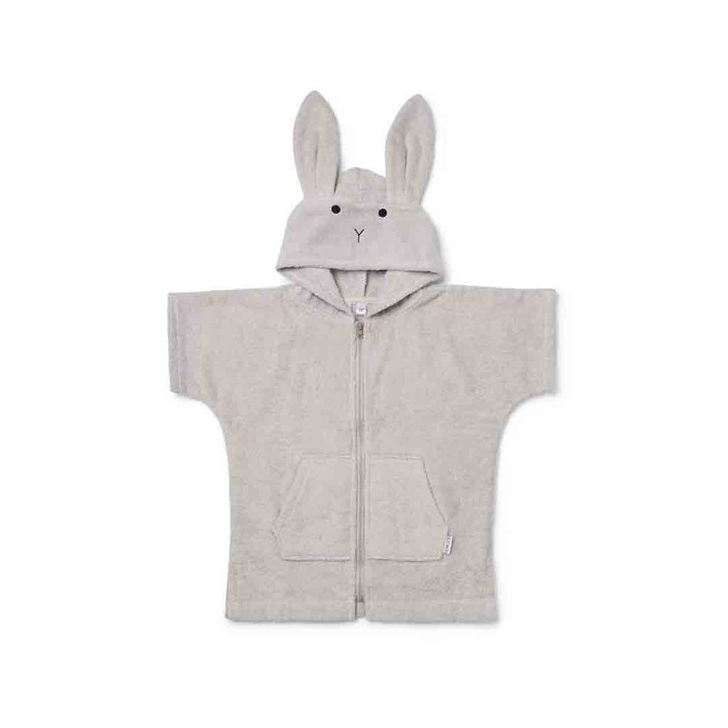 Liewood Lela Cape - Rabbit - Dumbo Grey-Towels & Robes- Natural Baby Shower
