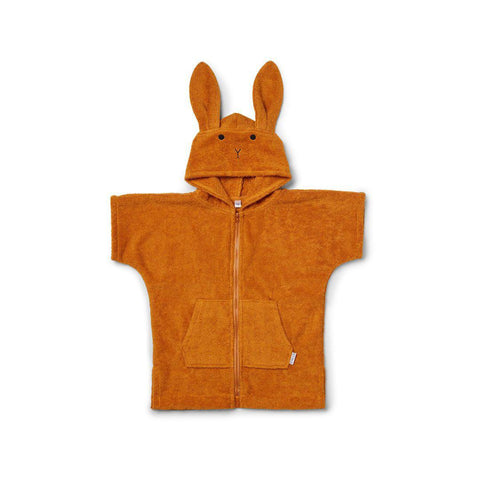 Liewood Lela Cape - Rabbit - Mustard-Towels & Robes- Natural Baby Shower