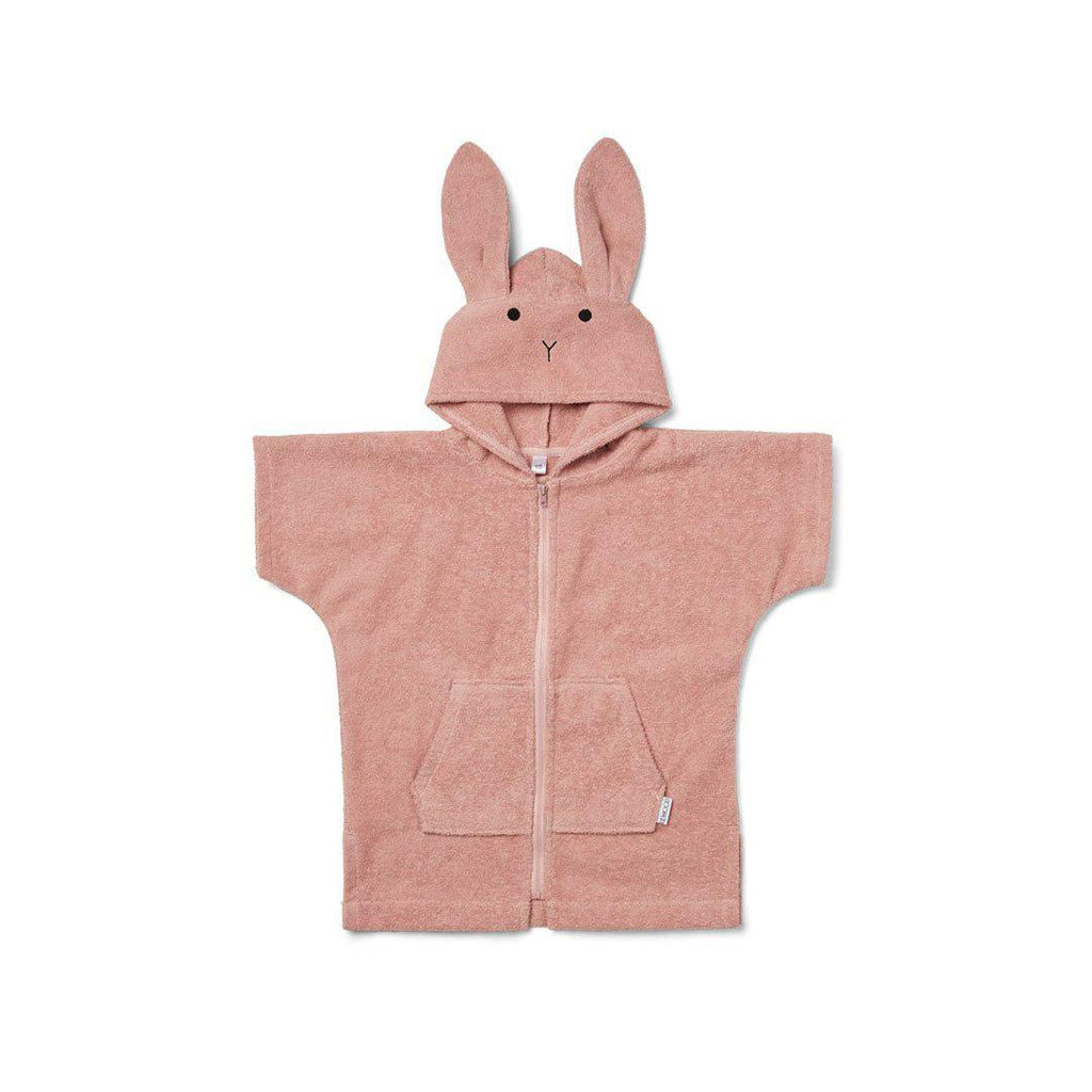 Liewood Lela Cape - Rabbit - Rose-Towels & Robes- Natural Baby Shower