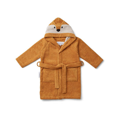 Liewood Lily Bathrobe - Fox - Mustard-Towels & Robes- Natural Baby Shower