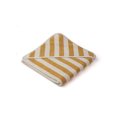 Liewood Louie Hooded Towel - 2020 - Yellow Mellow/Sandy-Towels & Robes- Natural Baby Shower