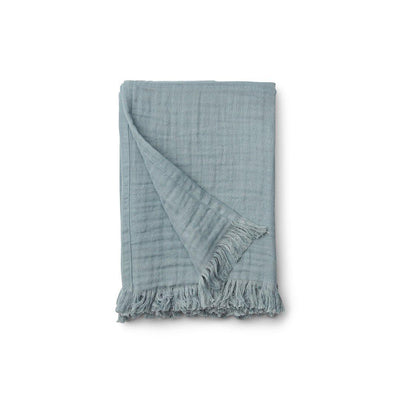 Liewood Magda Muslin Blanket - Sea Blue-Blankets- Natural Baby Shower