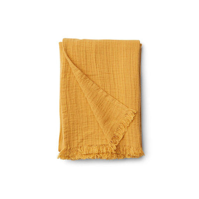 Liewood Magda Muslin Blanket - Yellow Mellow-Blankets- Natural Baby Shower