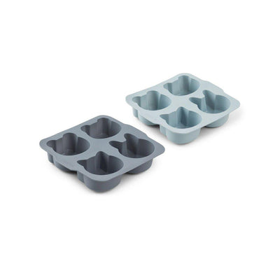 Liewood Mariam Cake Pan - Blue Mix - 2 Pack-Food Kits- Natural Baby Shower
