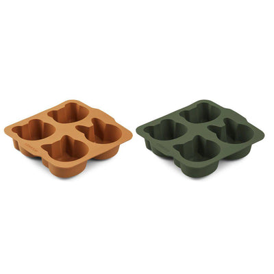 Liewood Mariam Cake Pan - Hunter Green/Mustard Mix - 2 Pack-Food Kits- Natural Baby Shower