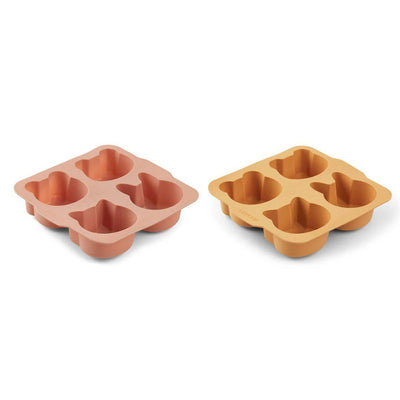 Liewood Mariam Cake Pan - Yellow Mellow/Dark Rose Mix - 2 Pack-Food Kits- Natural Baby Shower