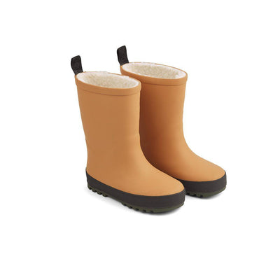 Liewood Mason Thermo Rainboots - Mustard/Black Mix-Wellies- Natural Baby Shower